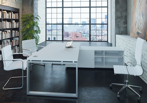 Monitor Arm Desk Mount in White and Silver