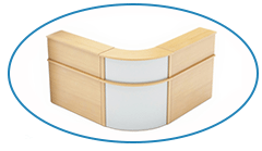 Maple Reception Desk with Curved Corner