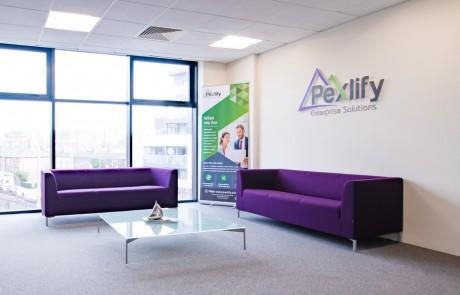 Pexlify-Office-Layout-Purple-Reception-Seating-Radius-Office