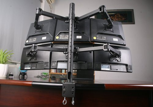 Monitor Arms with Three Screens