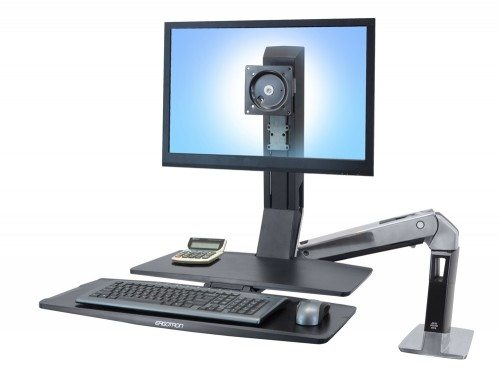 Ergotron WorkFit A single HD with worksurface