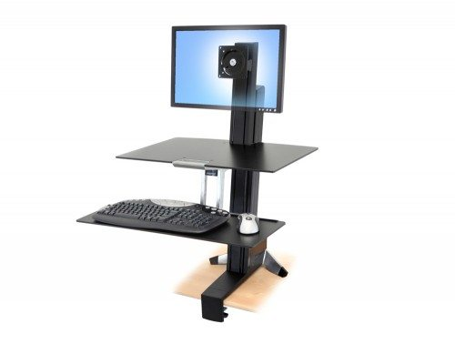 Ergotron WorkFit S single LD with worksurface
