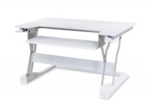 Ergotron WorkFit T Sit Stand Desktop Workstation in white