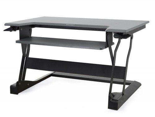 Ergotron WorkFit T Sit Stand desktop workstation in black