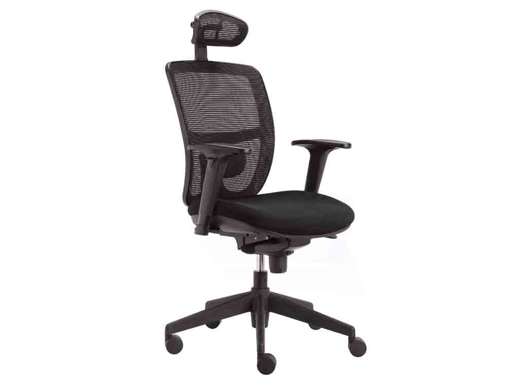 Action Ergonomic Task Black Mesh Chair