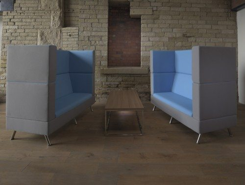 Ad-Hoc 2-Seater High-Back Sofa Meeting Pod Room Set
