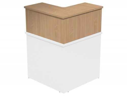 Ashford Modular Reception 90 Degree Corner Riser BE in Beech
