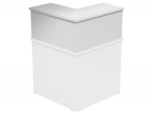 Ashford Modular Reception 90 Degree Corner Riser WH in White