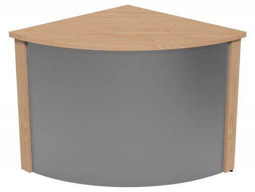 Ashford Modular Reception Corner Metal Desk BE-SLV in Beech
