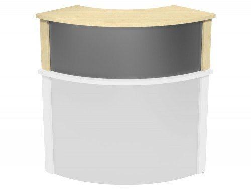 Ashford Modular Reception Corner Metal Riser MP-SLV in Maple