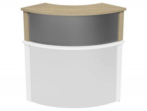 Ashford Modular Reception Corner Metal Riser UO-SLV in Urban Oak
