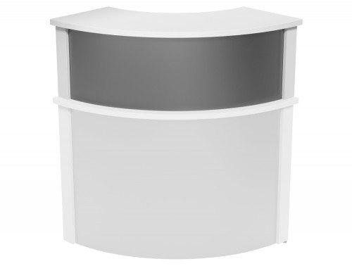 Ashford Modular Reception Corner Metal Riser WH-SLV in White