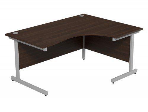 Ashford Budget Metal Leg Crescent Desk SLV-DW-R-1612 in Dark Walnut