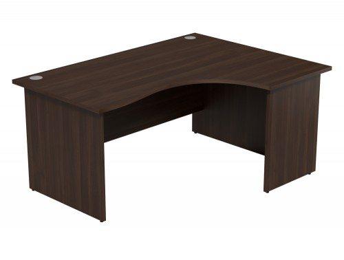 Ashford Budget Panel Leg Crescent Desk DW-R-1612 in Dark Walnut