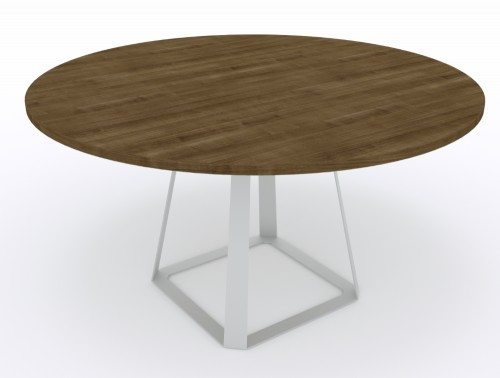 Balma H2 Round Coffee Table with Metal Base