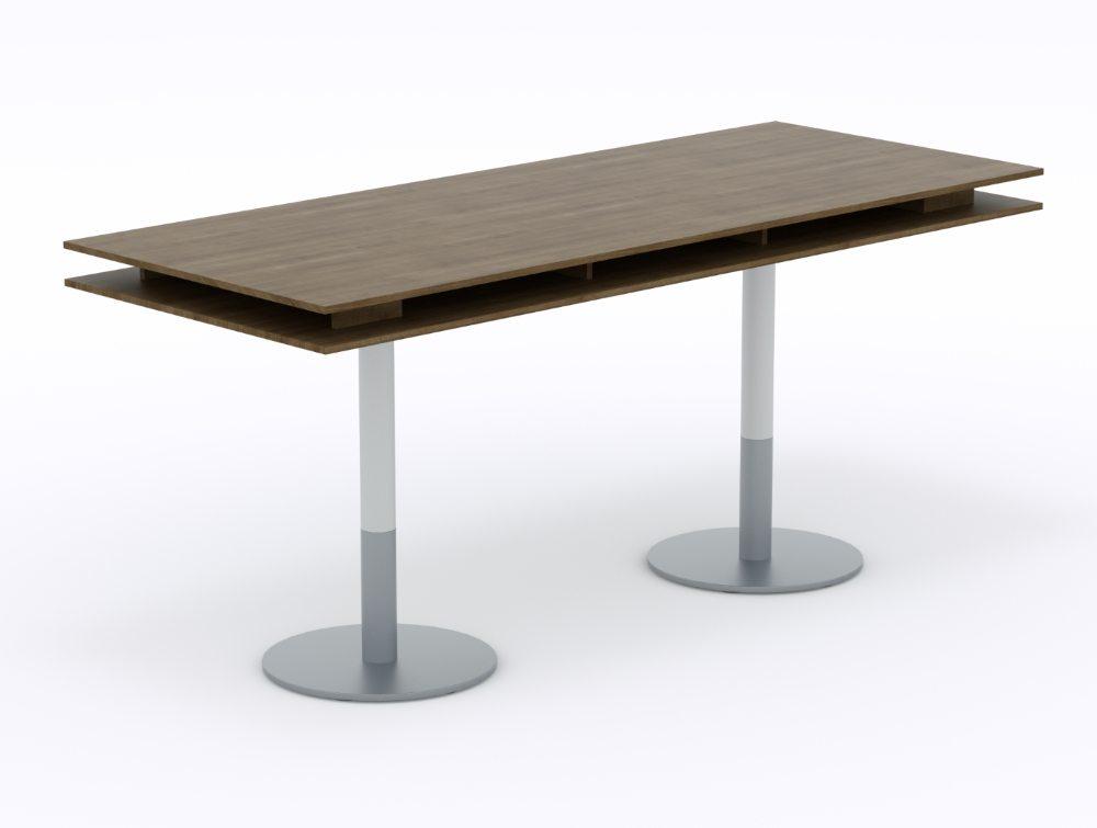 Balma Plus Hightop Meeting Table with Cylinder Base