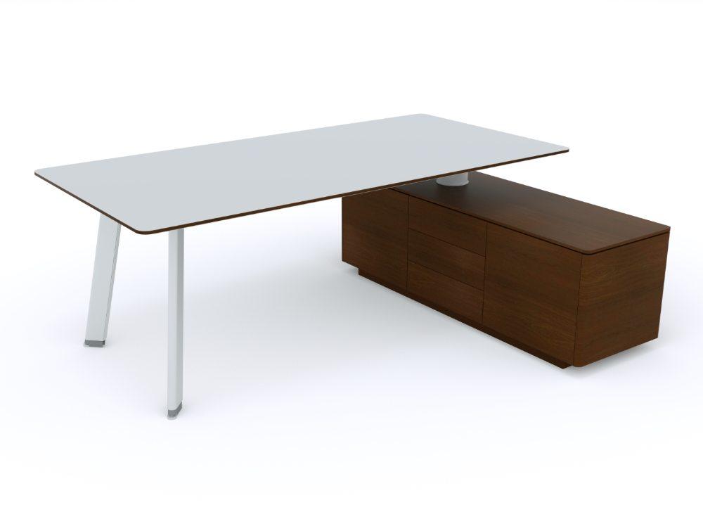 Balma Simplic Executive Desk with Credenza Unit