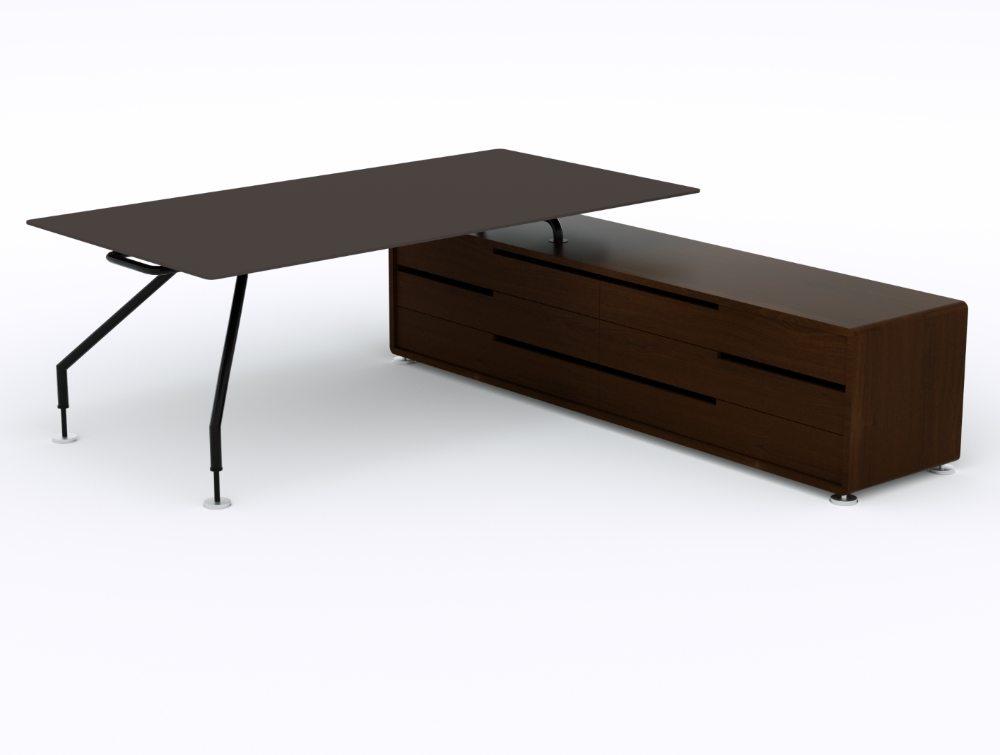 Balma Xeon Executive Desk with Credenza Unit