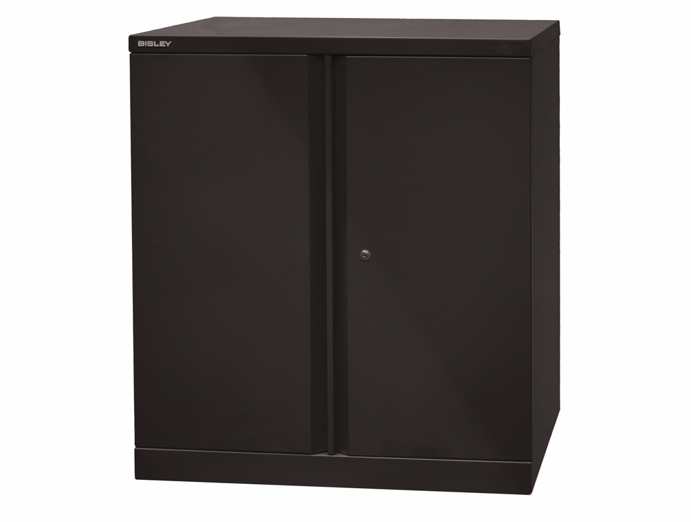 Bisley Essential Steel Cupboard with 1 Shelf - Black