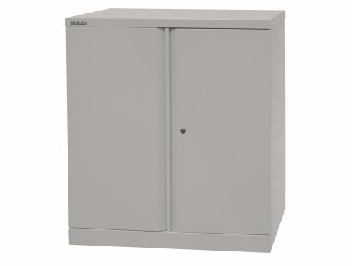 Bisley Essentials Steel Cupboard with 1 Shelf in Grey
