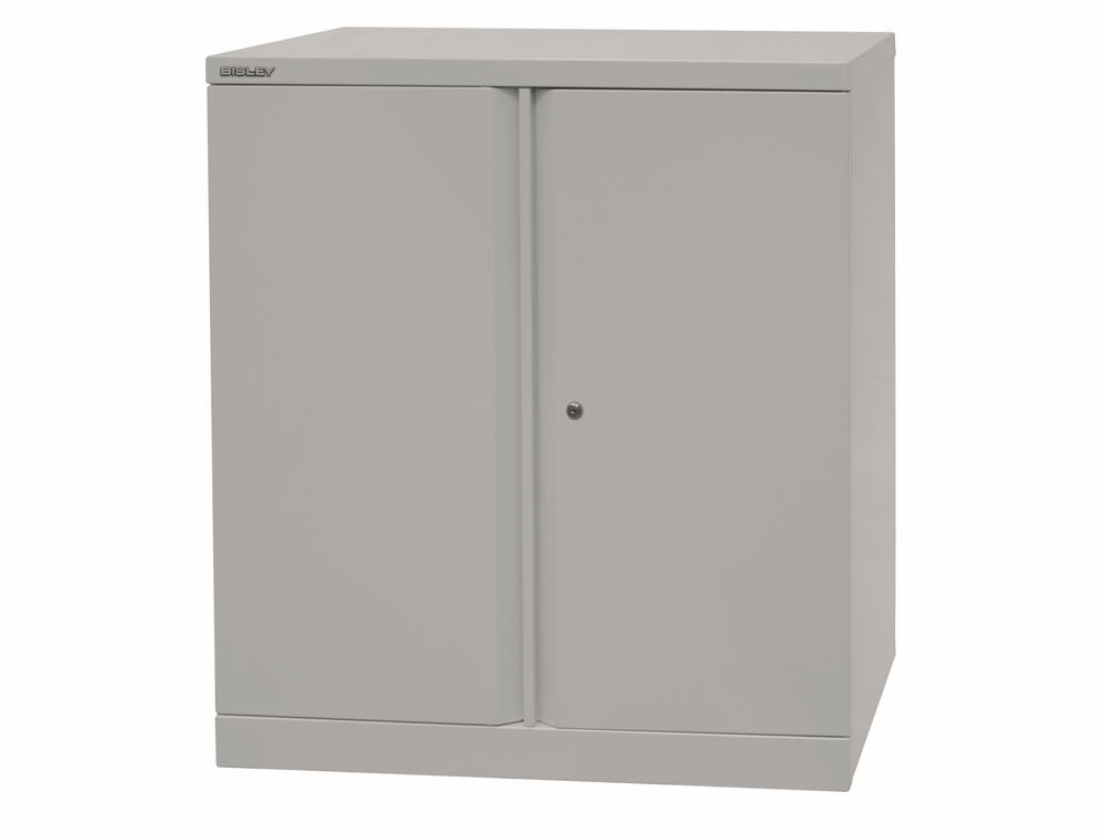 Bisley Essential Steel Cupboard with 1 Shelf - Grey