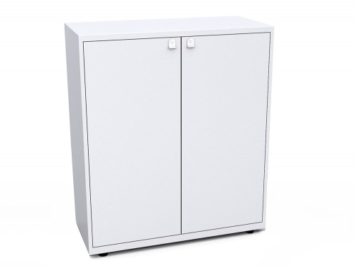 Bisley Essentials Two Door Lodge in White with Locks