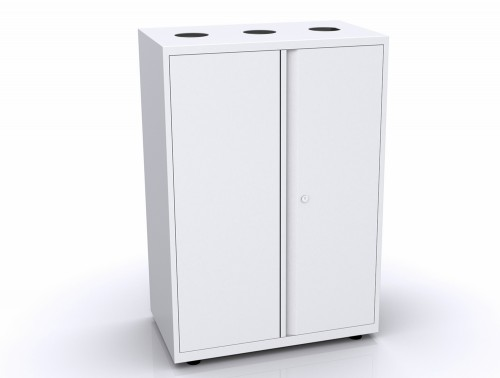 Bisley Lateralfile Top-Access Recycling Unit White