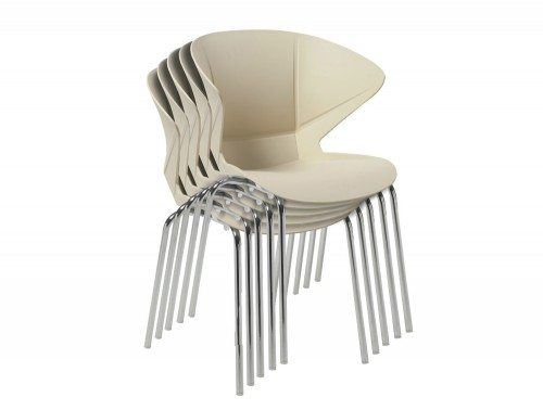Cappuccino Stackable Chair in Beige