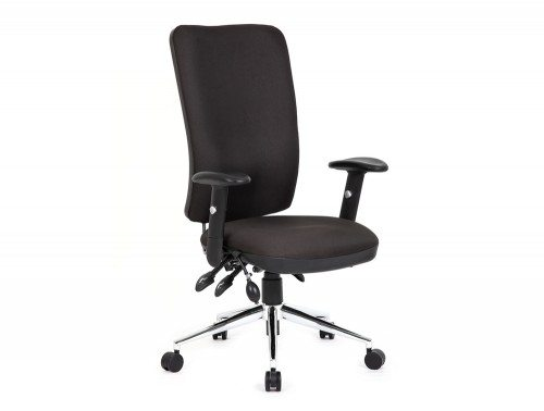 Chiro Task Operators Chair Black With Arms High Back Featured Image