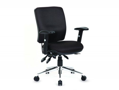 Chiro Task Operators Chair Black With Arms Medium Back Featured Image