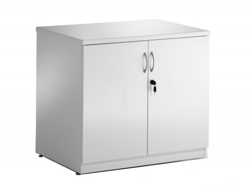 Dynamic desk high cupboard in white high gloss