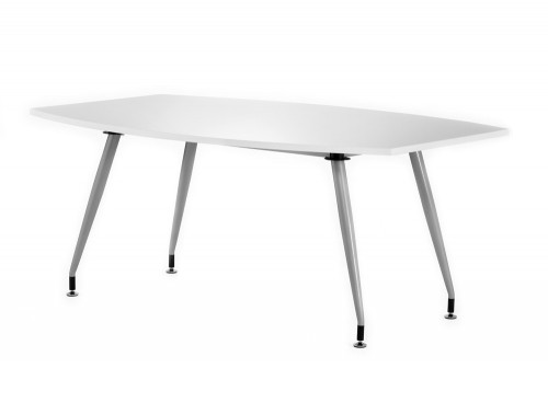 1800mm width dynamic boardroom white table in high gloss
