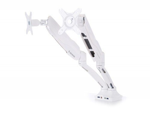 Dynamic Monitor Arm Double White
