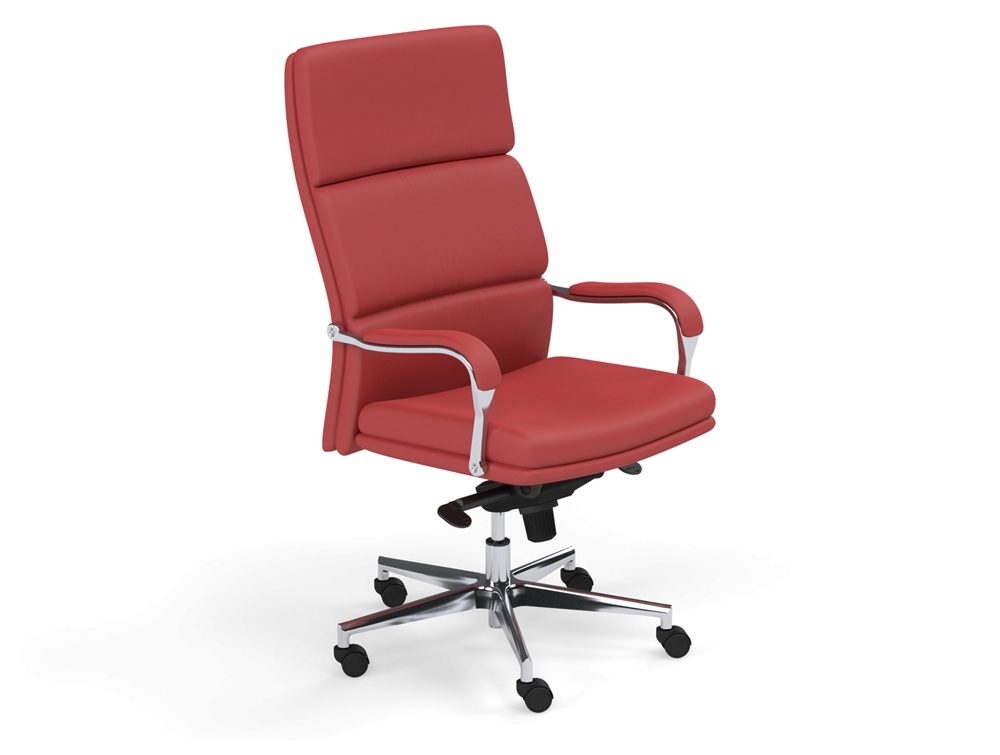 Denver Executive Office Chair With Padded Arms In Red
