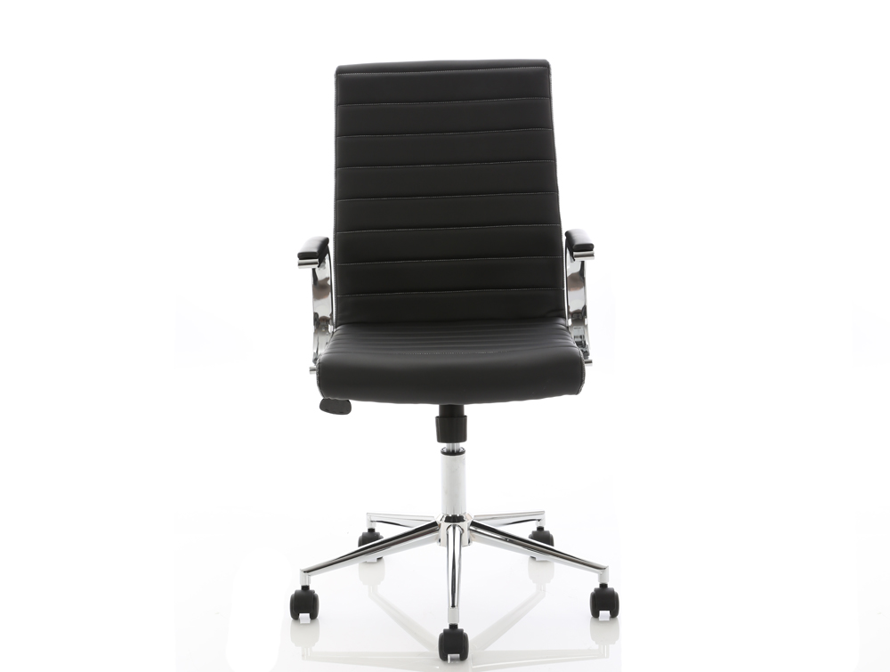 Dynamo Ezra Series Office Executive Chair Black Leather Front