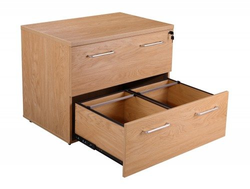 Elite 2 Drawer Side Filing Cabinet In Oak