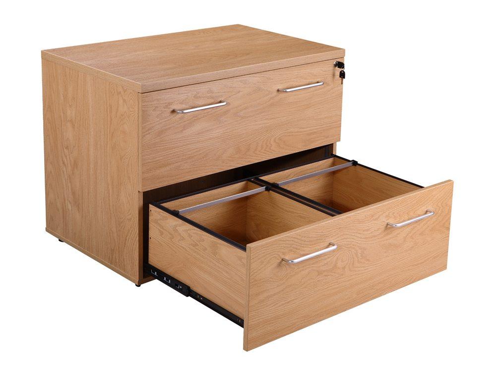Elite 2 Drawer Side Filing Cabinet - Oak