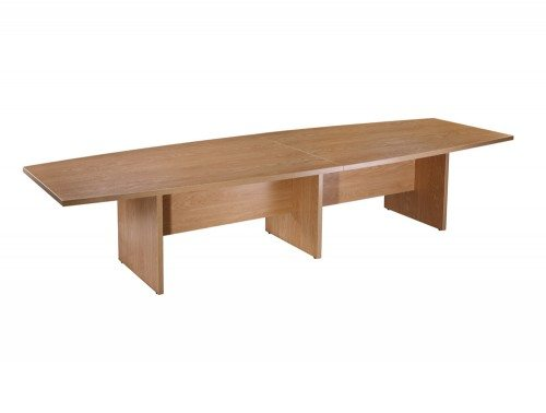 Elite Boardroom Table with Modesty Panel in Oak 3600mm