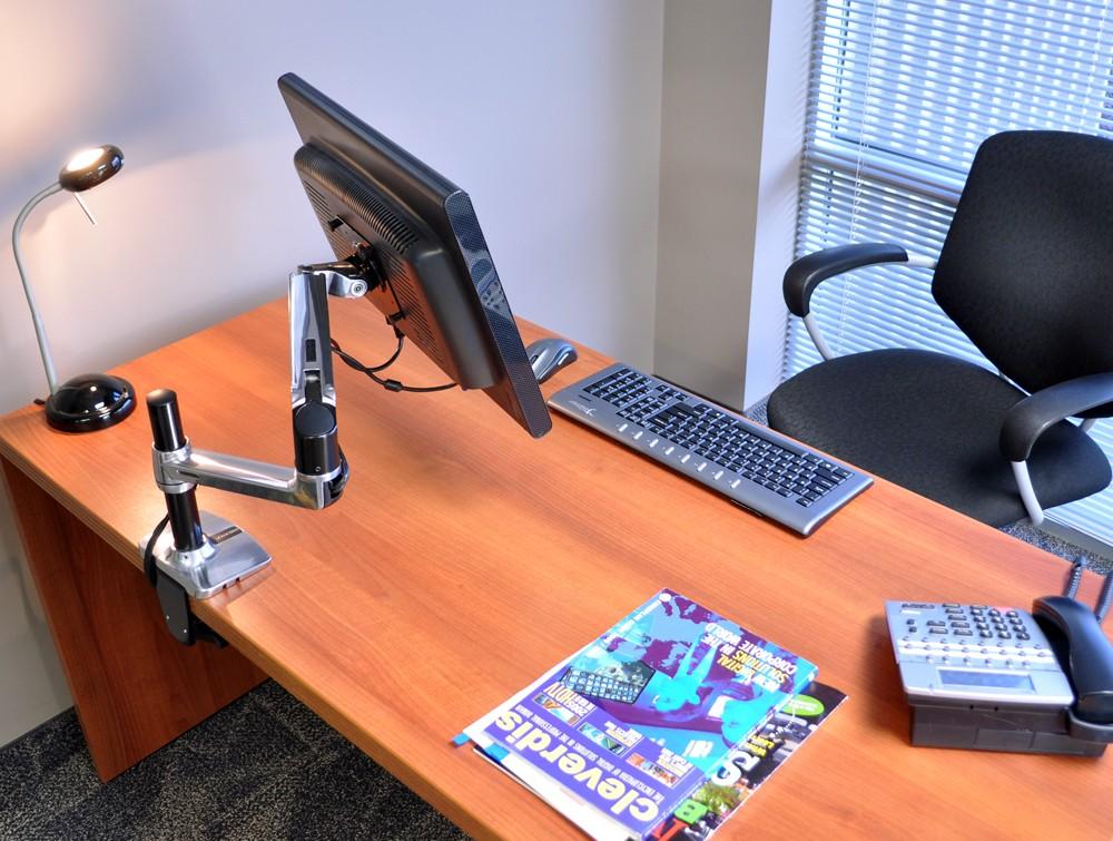 Ergotron Lx Tall Pole Desk Mount Lcd Monitor Arm Radius