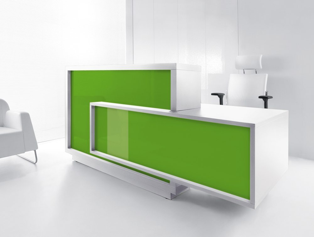 Foro reception desk in green