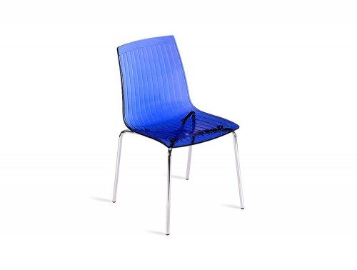 G85TB City Stackable Translucent Chair in Blue