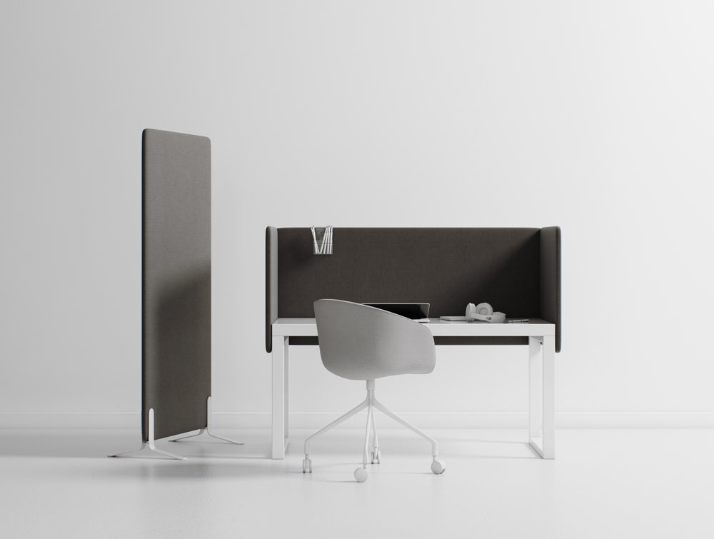 Hush Duo Noise Cancelling Desk Mounted and Freestanding Screens