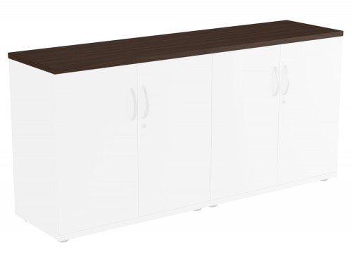 Kito Bookcase Top DW-1642 in Dark Walnut Double Top