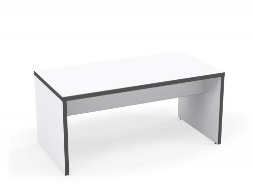 Kito Canteen Bench System Low Table WH-GR-1680 White/Graphite in 1600 x 800mm