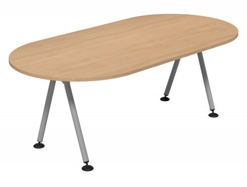 Kito Meeting Oval Meeting Table Double A Frame Leg Base Be Slv 2010