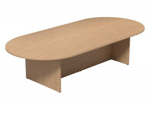 Kito Meeting Oval Meeting Table Panel Leg Base 2 Piece Size 3000 Mm X 1400 Mm Be