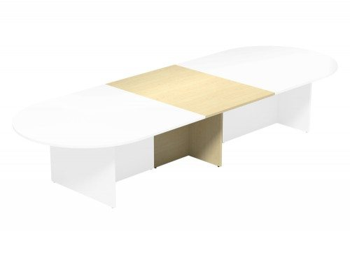 Kito Meeting Oval Meeting Table Panel Leg Base Add On Section 1000 Mm X 1400 Mm For 2 Piece Table Mp