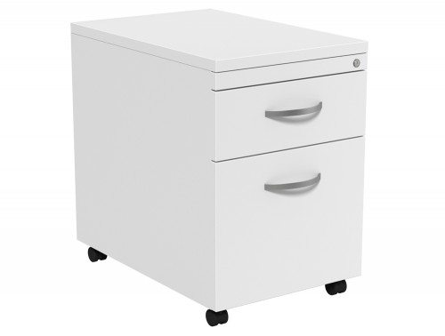 Kito Mobile Pedestal MP2-WH in White 2-Drawer