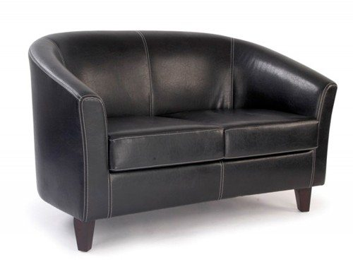 Metro Tub Three Seater Sofa in Brown