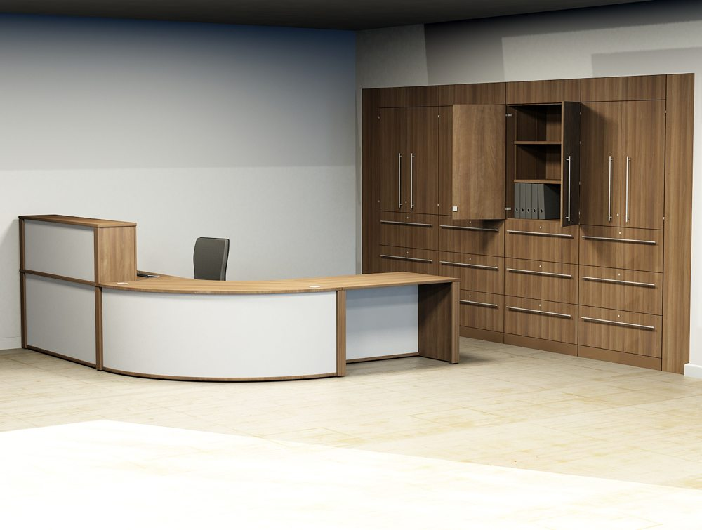 Mobili reception configuration 1 radius office uk for Mobili office